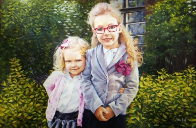 Commission. Acrylics on canvas.